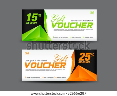 Gift voucher template Set von ganpanjanee auf Shutterstock – Ticket Voucher Template