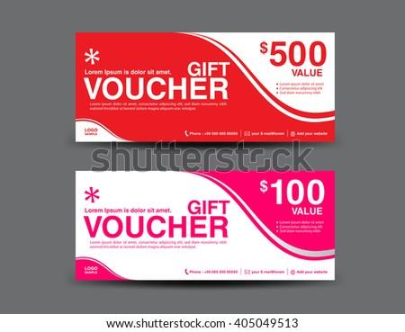 ganpanjanees Gift voucher template set on Shutterstock – Business Voucher Template