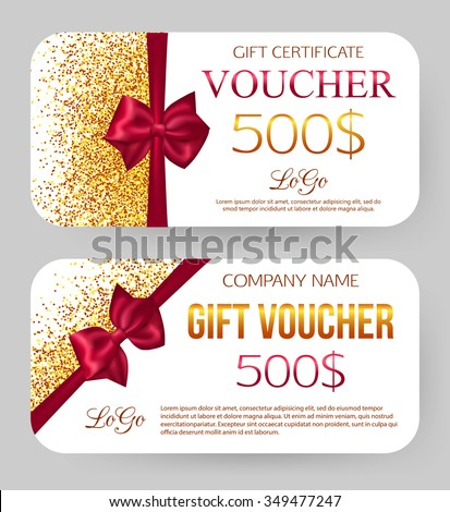 Voucher Gift Certificate Coupon Template Border Vector – Template for a Voucher