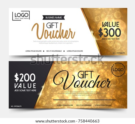 Gift voucher template premium patterncute gift gift voucher template or certificate coupon design templatecollection gift certificate business card banner calling yelopaper Choice Image