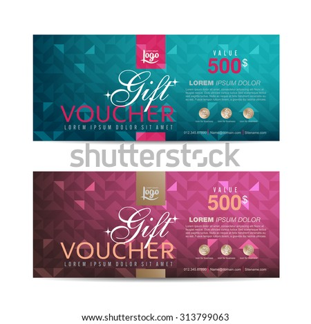 gift voucher template can be use stock vector 578860213 shutterstock. Black Bedroom Furniture Sets. Home Design Ideas