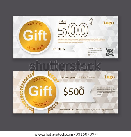 Gift voucher template premium patterncute gift gift voucher template with gold pattern certificate background design coupon invitation currency yelopaper Image collections