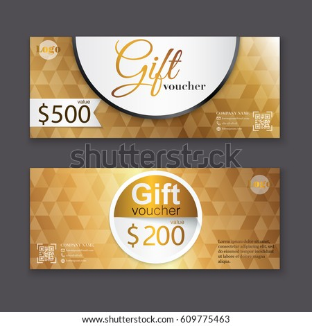 Gift voucher template premium patterncute gift gift voucher template with gold pattern certificate background design coupon invitation currency yelopaper Choice Image