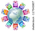 Gifts from around the world - stock vector