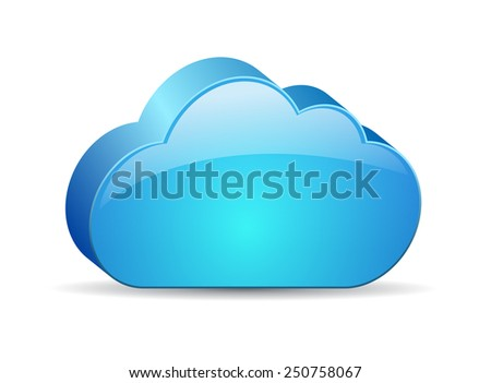 Glass blue cloud icon