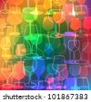 glass colorful background - stock vector