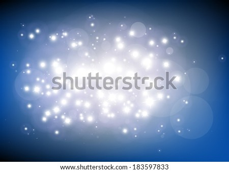 Glitter shine in space vector background  illustration  - Vector abstract blue  shiny   template background
