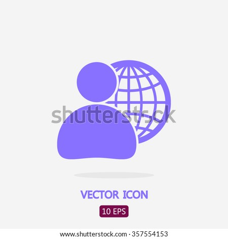 Global business business man icon vector stock vector for Global design firm