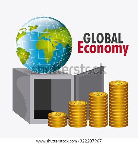 Global economy, business and money design, vector illustration