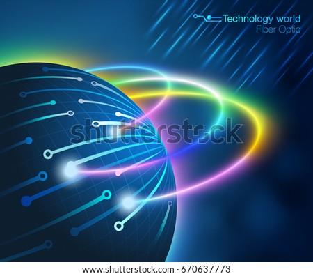 Fiber Optic Digital Stock Vector 640219375 Shutterstock