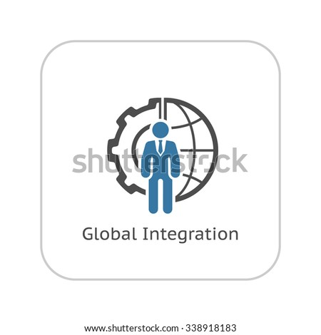 Global integration icon flat design business stock vector for Global design firm