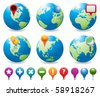 Globe an Navigation Icons - stock vector