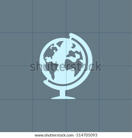 globe Sign and symbol for business with guideline