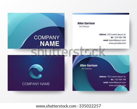 Business cards design stock vector 416436754 shutterstock glossy logo design on business cards template letter c icon vector illustration reheart Choice Image