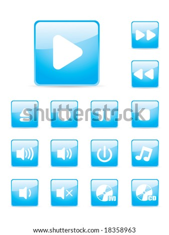 Glossy music button set.  More button sets in my portfolio.