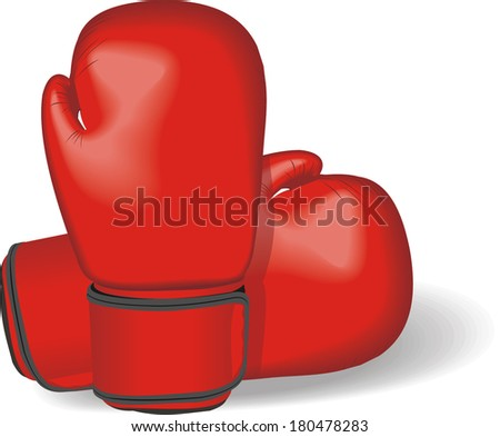 gloves for boxing vector