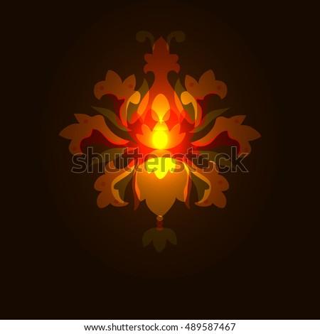 Glowing Fairy Light/ Lantern.Glitter Magical Chandelier. Burning Wonderful  Mysterious Lamp. Beautiful