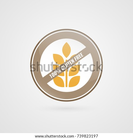 gluten free logo food circle vector stock vector 513335188