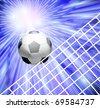 Goal. a soccer ball in a net - stock vector