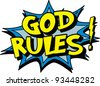 god rules sign - stock photo