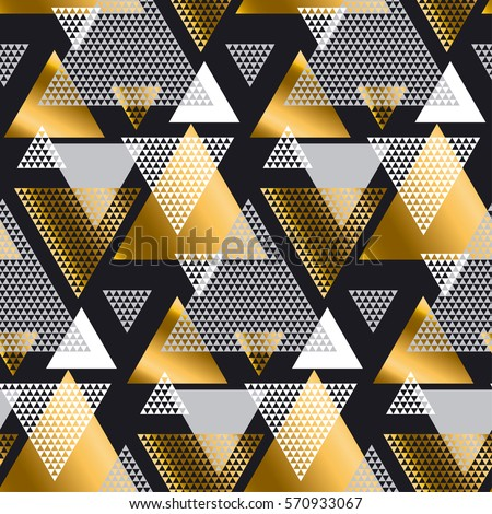 Abstract Seamless Pattern Seamless Pattern Triangles Stock
