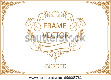 Gold border design frame photo template stock vector 671694559 gold border design frame photo template certificate template with luxury and modern pattern yadclub Image collections