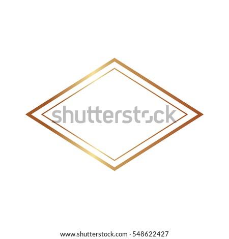 Gold Frame Beautiful Simple Golden Design Stock Vector 548622466