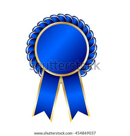 first place prize blue ribbon gold stock illustration 47350105 shutterstock. Black Bedroom Furniture Sets. Home Design Ideas