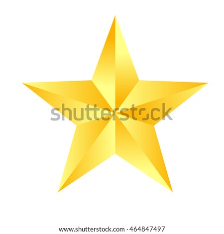 gold star icon vector