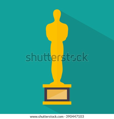 Golden man. Icon. Vector illustration