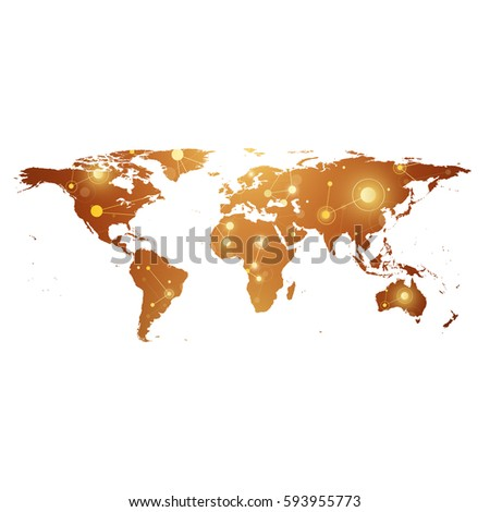 Dots grey world map vector illustration vectores en stock 257160613 golden political world map with global technology networking concept digital data visualization scientific cybernetic gumiabroncs Image collections