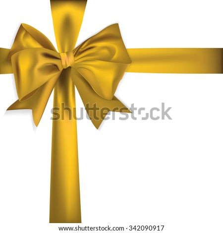 golden ribbon isolated on white background