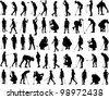 Golf Vectors - Silhouettes - stock vector