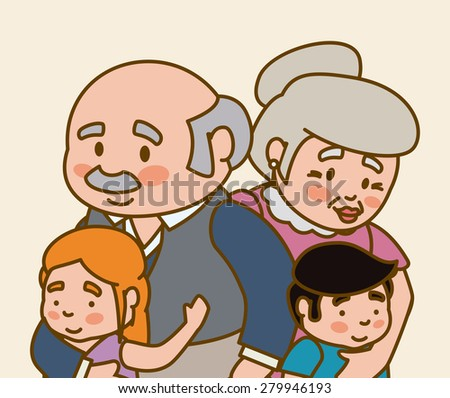 Grandparents design over beige background, vector illustration.