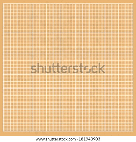 Graph orange millimeter paper grunge with white cells