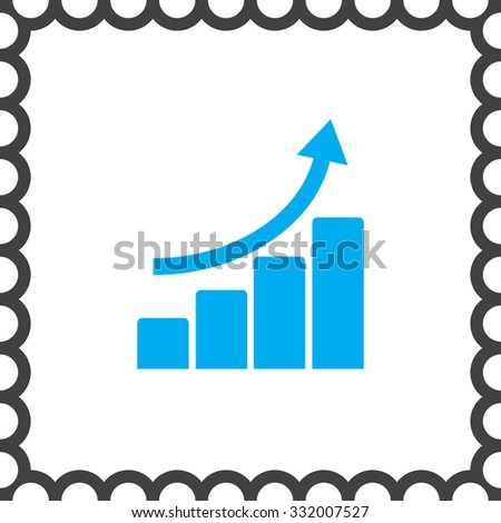 graph with bars and arrow vector icon