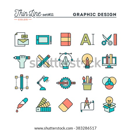 Graphic Design Creative Package Stationary Software Stock