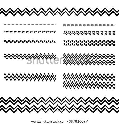 how to draw zig zag line word