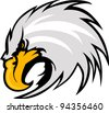 Graphic Mascot Vector Image of an Eagle Head - stock vector