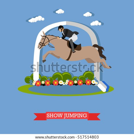 Vector Set Horse Riding People Icons Stock Vector