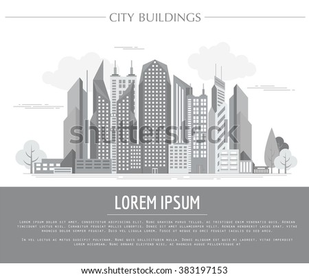 Great city map creator. Vector illustration