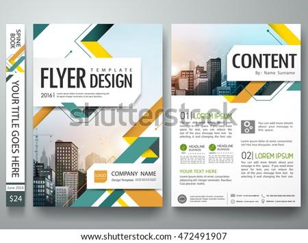 Portfolio template vector minimal flower brochure stock for Book report brochure template
