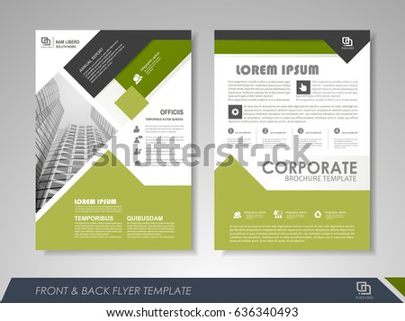 Flyer Template Business Brochure Editable A Stock Vector