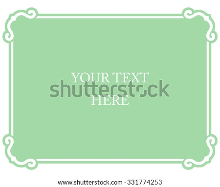 green mint horizontal border frame deco stock vector 308442323 shutterstock. Black Bedroom Furniture Sets. Home Design Ideas