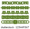 Green celtic ethnic ornaments and traceries for design. Jpeg version also available in gallery - stock photo