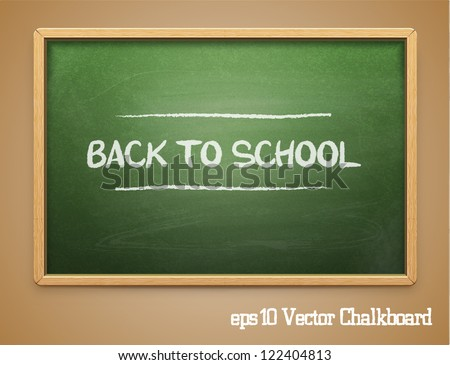 Green chalkboard.Vector