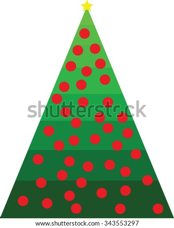 Simple abstract chrismas tree white dots stock vector for Red and yellow christmas tree