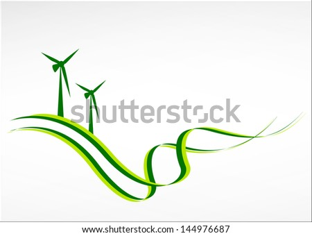 Green energy abstract background. Healthy lifestyle concept