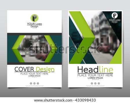green brochure template - annual report brochure flyer design template wektor