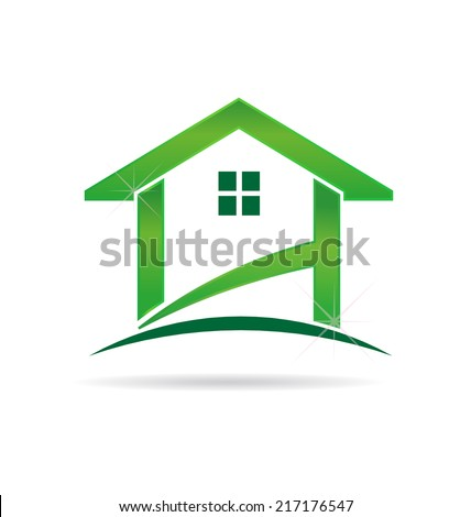 Green House. Vector design